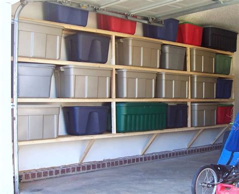 shelving planner garage colorful boxes white wall cement floor garage shelves minimalist dickoatts