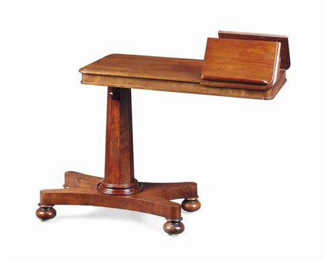 Reading Tables by An Early Mahogany Adjustable Reading Table Mid