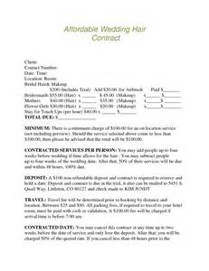 florist wedding contract template wedding flower contract wedding image pkeqqjwa