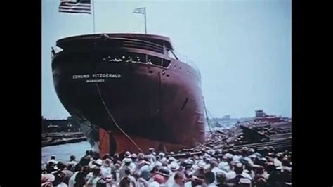 detroit river boat launches launch of the edmund fitzgerald hull 301 great lakes