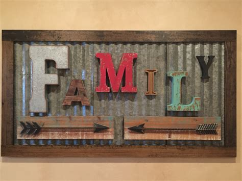 family woodworking rustic family sign made from vintage letters and