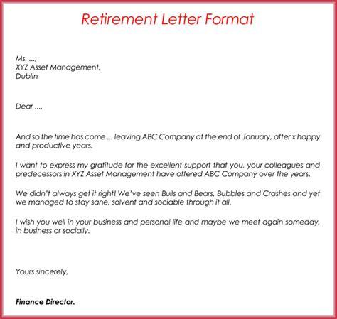 letter of retirement retirement letter sles exles formats writing guide