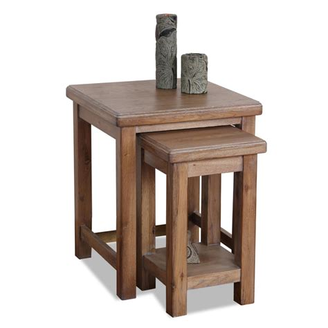 nesting end tables living room leick furniture leick windswept nesting side table