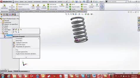 tutorial de solidworks tutorial como hacer un resorte en solidworks 2012 spring