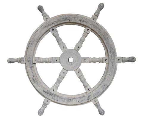 nave volante nave volante rueda barco de madera 61cm blanco stillo