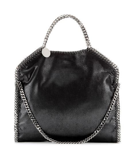 stella mccartney falabella small shoulder bag in black lyst