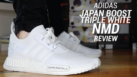 adidas nmd  japan boost triple white review youtube