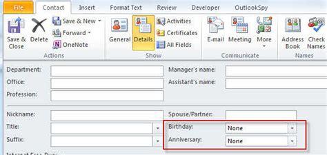 Adding Birthdays To Calendar Adding Birthdays And Anniversaries To Outlook S Calendar