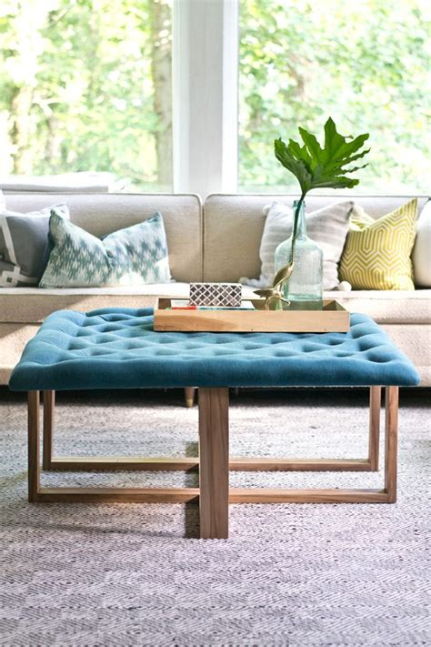 how to build an ottoman with legs how to build a tufted ottoman coffee table ehow