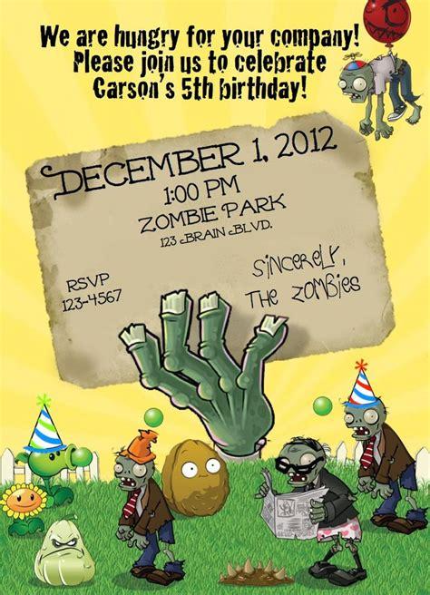 plants vs zombies pvz birthday invite 10 00 via etsy