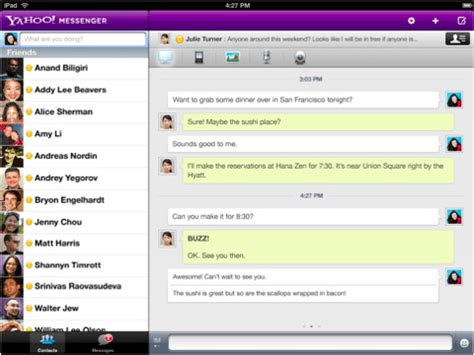 layout yahoo yahoo messenger gets voice video chat on ipad 2 cult