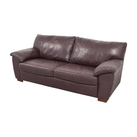 87 ikea ikea vreta brown leather two cushion sofa