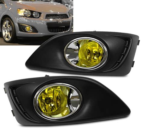 Yellow Fog Ls 2012 2016 chevy sonic ls lt ltz yellow bumper fog lights