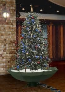 snowing xmas tree