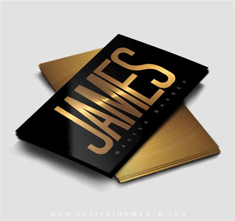 barber shop business card templates black and gold barber business card template active ink