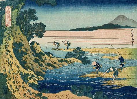 biography of hokusai japanese artist fly fishing painting by katsushika hokusai