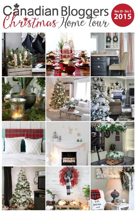 home decor blogs christmas canadian bloggers home tour red plaid cottage christmas