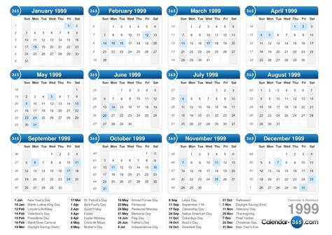 May 1999 Calendar 1999 Calendar