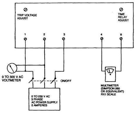 undervoltage and overvoltage relay wiring diagrams