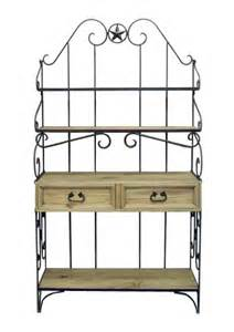 Wrought Iron Bakers Rack With Drawers Wrought Iron Bakers Rack Great Western Furniture Company