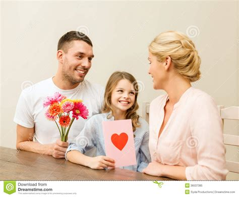 House Building Plans And Prices Happy Family Celebrating Mothers Day Royalty Free Stock