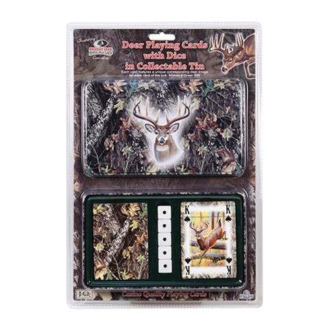 Mossy Oak Gift Card - rivers edge products mossy oak deer cards dice in gift tin 1569