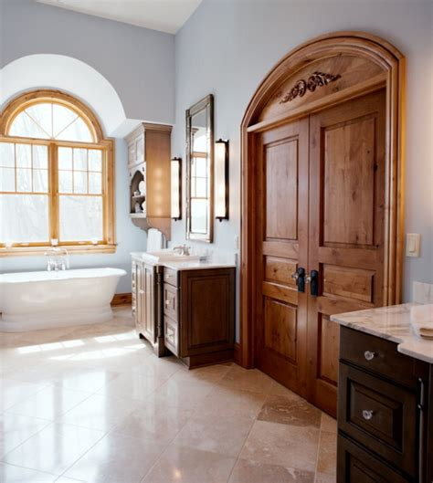 Arched Shower Door Knotty Alder Doors Bathroom Traditional With Arched Door Oenning Arched Beeyoutifullife