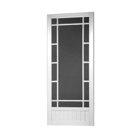 shop screen tight white vinyl screen door common 80 in x