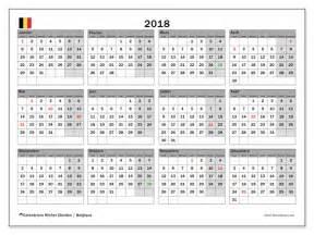 Calendrier 2018 Belge Calendrier 2018 Belgique
