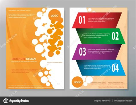 magazine layout design vector brochure design template vector blue and orange abstract