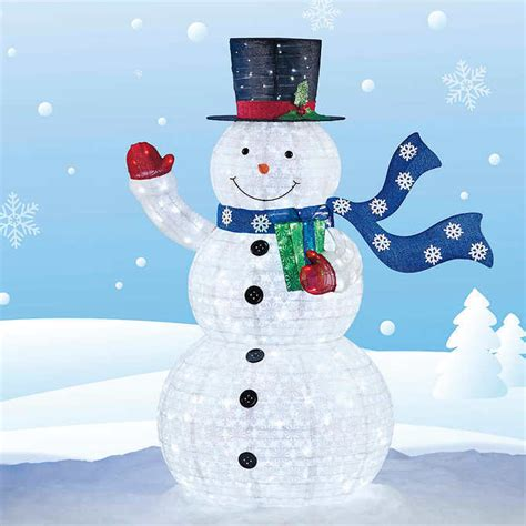 lighted snowman shop collectibles daily