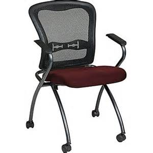 Desk Chair Retractable Arms Office Proline Ii 174 Fabric Deluxe Folding Visitors