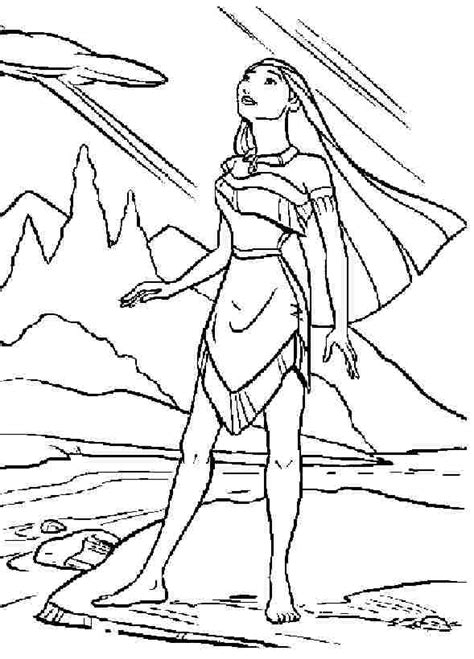 Princess Pocahontas Coloring Pages Coloring Home Princess Pocahontas Coloring Pages