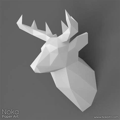 21 Best Wall Heads Cabezas Murales Images On Pinterest Papercraft Deer Template