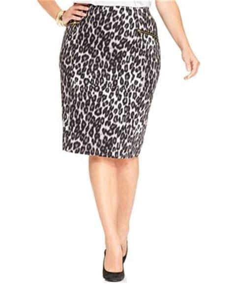 alfani plus size leopard print pencil skirt skirts