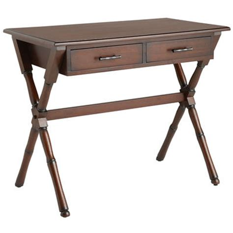 pier one office desk natura desk mahogany brown pier 1 imports