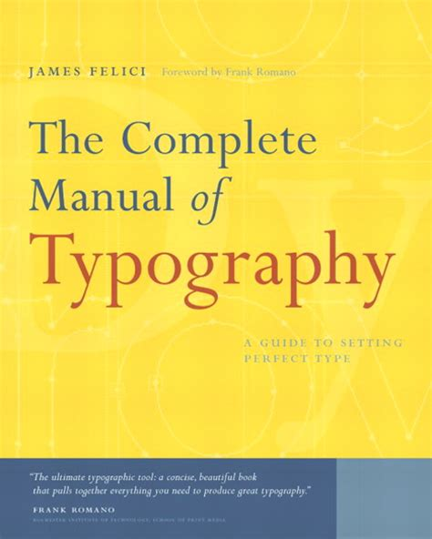 libro basics design typography felici complete manual of typography the pearson