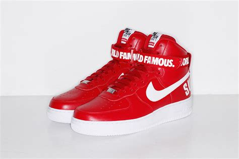 supreme nike air supreme x nike air 1 high collection le site de la