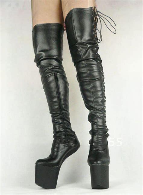 heelless pony boots fashion pu matt leather