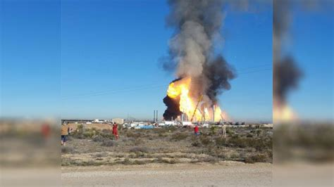 Photo: Natural gas plant catches fire in West Texas   KGBT