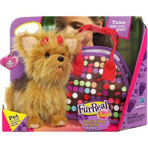 yorkie carries out of store buy furreal friends tea cup pups yorkie at home bargains
