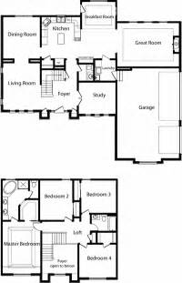 floor plan 2 story house 2 story polebarn house plans two story home floor plans