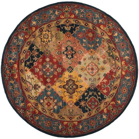 area rug 10 x 10 safavieh heritage multi 10 ft x 10 ft area rug hg926a 10r the home depot