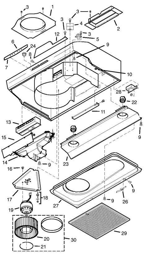 broan range light wont turn broan range parts model qs236ss sears partsdirect