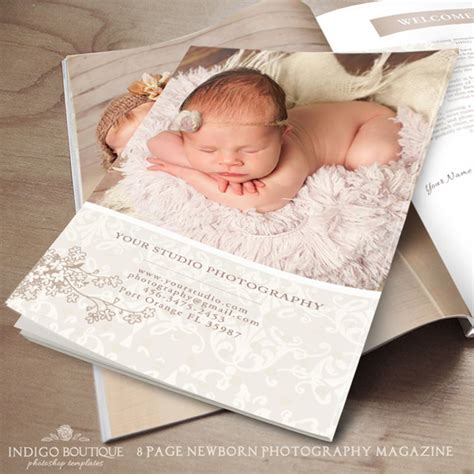 newborn magazine template newborn photography magazine template client welcome guide