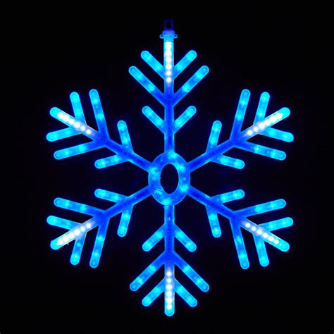 blue and white led snowflake lights 60cm snowflake blue white led decorative light