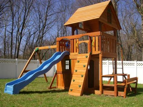 rainbow swing sets costco swing set installation nj playset installer cedar summit