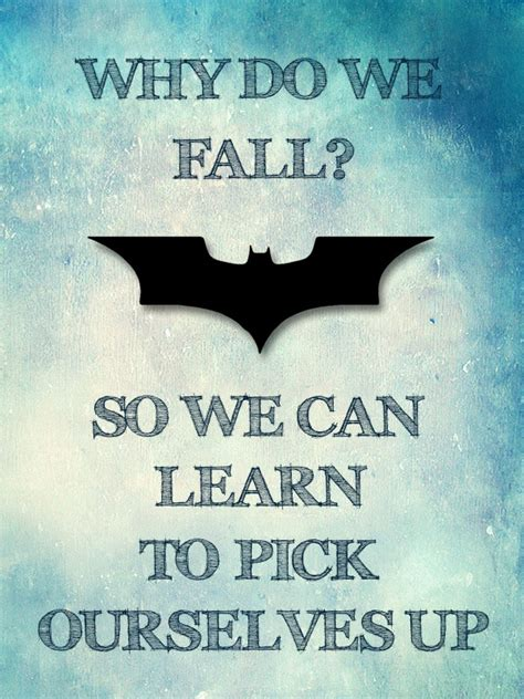 batman begins tattoo why do we fall the dark knight tattoo ideas