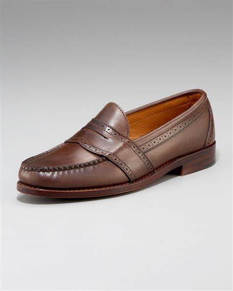 ralph loafers ralph ellesmere loafer in brown for lyst