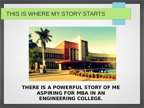 Internships For Mba Aspirants by Tu Parreet Singh Ppt2 The Power Of Story